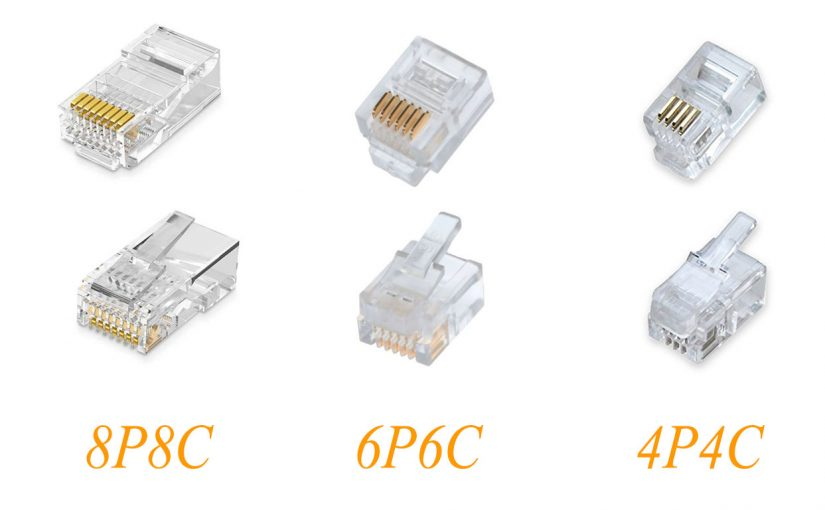 4P4C, 6P6C  in 8P8C telekomunikacijski priključki